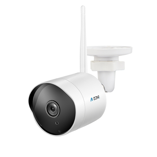 Outdoor Security Camera HD 1080P 2.4G WiFi Camera 50ft Night Vision IP66 Home Surveillance Max.128GB Class10 Micro SD Card-Not Included(1 Pack White)